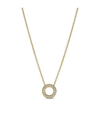Pandora Pavé Circle necklace shine 367436C01-45