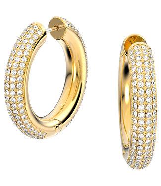 Swarovski Dextera pierced earrings hoop gold 5618305