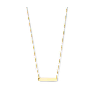 Lisamona Gold ketting 14kt geelgoud Staafje G0246