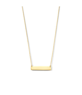 Lisamona Gold ketting 14kt geelgoud Staafje G0249