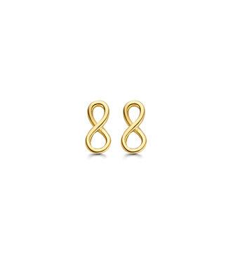 Lisamona Gold oorbellen 14kt geelgoud Infinity G0251