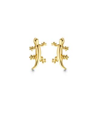 Lisamona Gold oorbellen 14kt geelgoud Salamander G0256
