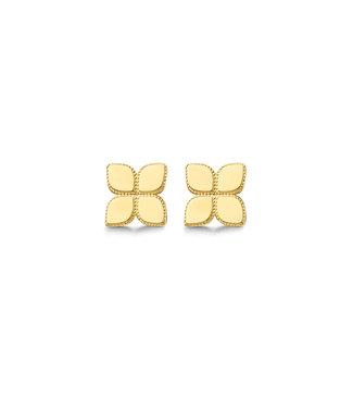 Lisamona Gold oorbellen 14kt geelgoud Bloem G0258