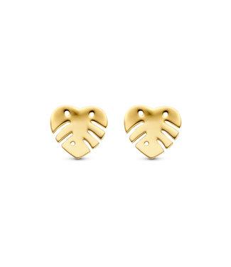 Lisamona Gold oorbellen 14kt geelgoud Blad G0259