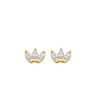 Lisamona Gold oorbellen 14kt geelgoud G0263