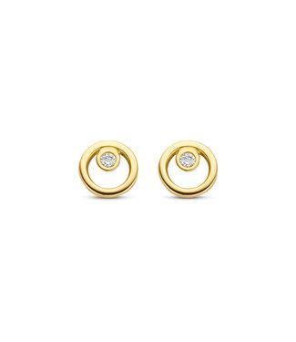Lisamona Gold oorbellen 14kt geelgoud Rond G0266