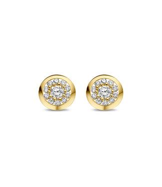 Lisamona Gold oorbellen 14kt geelgoud Rond G0267
