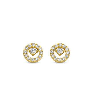 Lisamona Gold oorbellen 14kt geelgoud Rond G0268