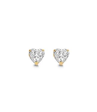 Lisamona Gold oorbellen 14kt geelgoud Hart G0212