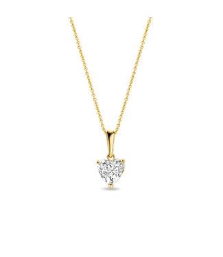 Lisamona Gold ketting 14kt geelgoud Hart G0237