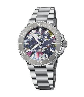Oris Aquis Date Upcycle multicolor unique unisex horloge 01 733 7766 4150-SET