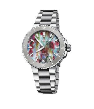 Oris Aquis Date multicolor unique dames horloge 01 733 7770 4150-SET