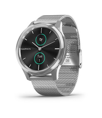 Garmin Vivomove Luxe, silver Stainless steel case with silver milanese band 010-02241-03