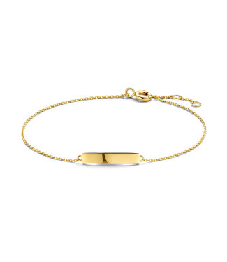 Lisamona Gold armband 14kt geelgoud Staafje G0248