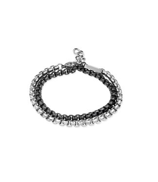 Orage armband staal zwart A/5503/21
