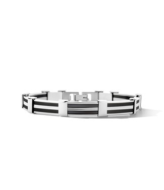 Orage armband heren staal zwart A/2405/21