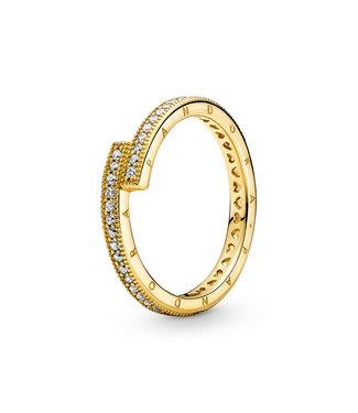 Pandora Sparkling Overlapping ring 169491C01