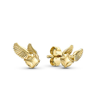 Pandora Harry Potter, Golden Snitch stud earrings 260025C00