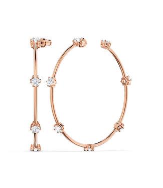 Swarovski Constella pierced earrings hoop rose 5609706