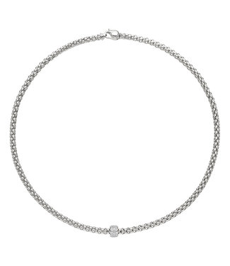 Fope ketting Solo witgoud 634C Pave