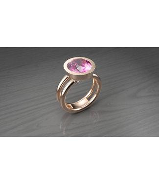 Willems Creations ring 18kt roosgoud met roze tourmalijn 184960