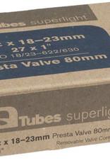 Q-TUBES Q-Tube 700 x 18-23C Presta 80mm Superlight