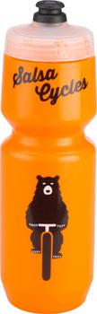 SALSA Salsa Water Bottle Purist 26oz, Bike Ridin' Bear, Orange