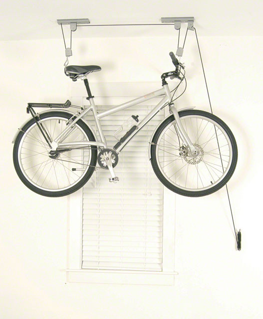 DELTA Delta Deluxe Bike Ceiling Hoist Storage Rack with Straps