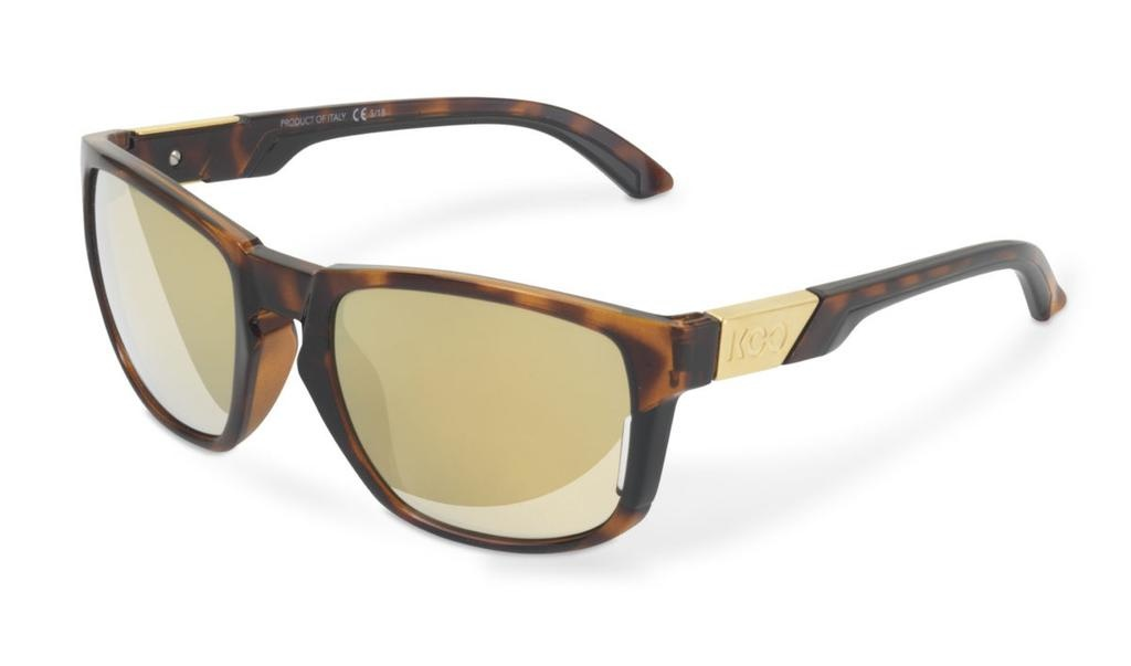 KASK KOO California Sunglasses Tortoise Frame, Gold Zeiss Lens