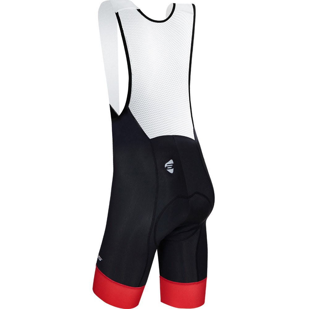 ATLAS Atlas Bib Short Mens SB-707, Black/Red, Medium