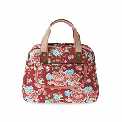 Basil Bloom Kids Carry All - fietstas - 11L - rood met bloemen