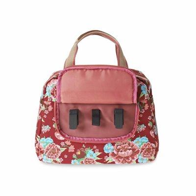 Basil Bloom Kids Carry All - Fahrradtasche - 11L - Rot mit Blumen