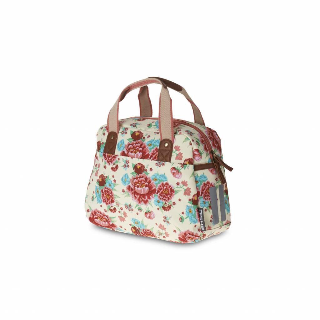 Basil Bloom Kids Carry All Fahrradtasche 11l Weiss Mit Blumen