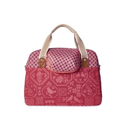 Basil Boheme Carry All - single bike bag - bicycle shoulder bag - 18L - red