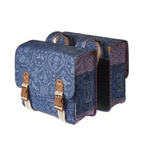 Basil Boheme Double Bag - doppelte fahrradtasche - 35L blau