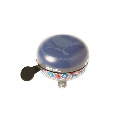 Basil Boheme Big Bell - bicycle bell - 80MM - blue with bohemian print