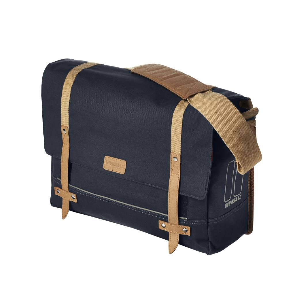 Basil Portland Messenger - bike shoulder bag - laptop bag - 20L - blue -  Basil