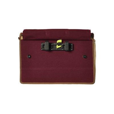 Basil Portland Messenger - Fahrrad Umhängetasche - Laptop Fahrrad - 20L - rot