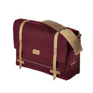 Basil Portland Messenger - Bike Shoulder Bag - Laptop Bike Bag - 20L - Red