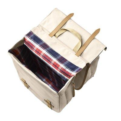 Basil Portland Slimfit Double Bag - double bike bag - bicycle bag - 29L - cream