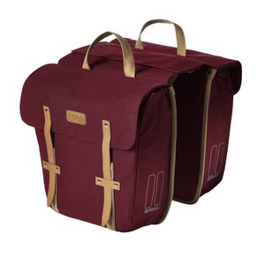 Basil Portland Slimfit Double Bag - doppelte fahrradtasche - einfache fahrradtasche - 29L - rot