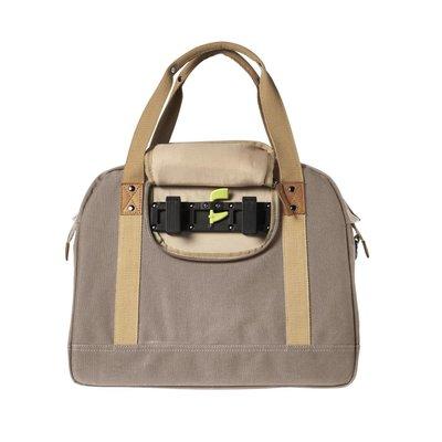 Basil Portland Business Bag – laptop bike bag - bike shoulder bag - 19L - taupe