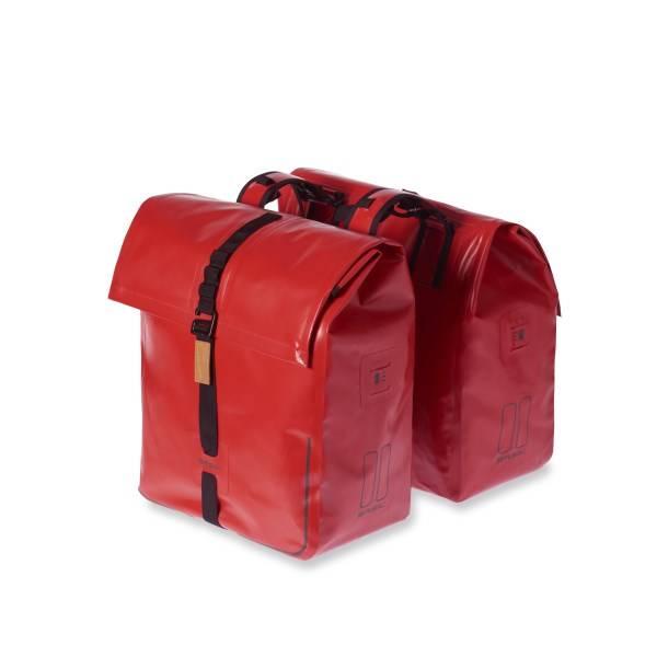 Basil Urban Dry Doppelte Fahrradtasche Rot