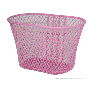 Basil Trento - kinderfietsmand - roze