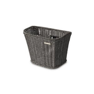 Boston Rattan Look - bicycle basket - grey