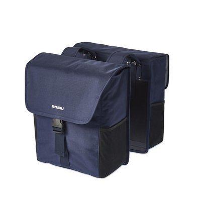 Basil GO Double Bag - double Bike Bag - 32l - denim blue