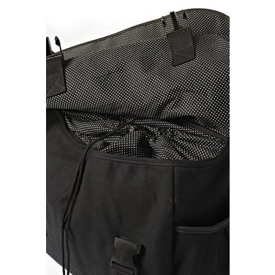 Basil Katharina Black & Dots – double bike bag - black
