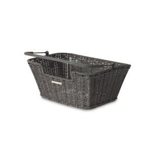 Basil Capri Rattan Look - fietsmand - grijs