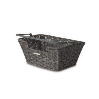 Basil Capri Rattan Look - bicycle basket - gray