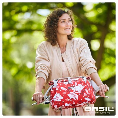 Basil Magnolia - bicycle Bag - 7L - poppy red